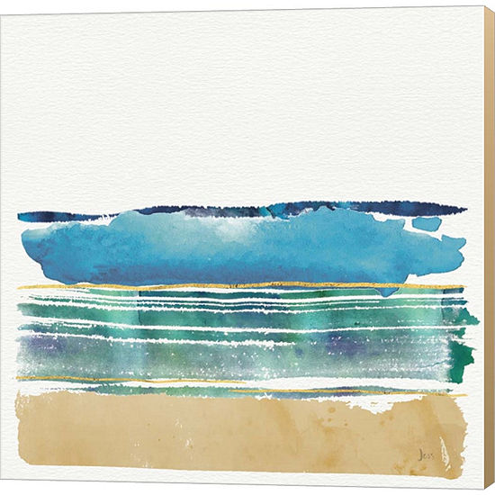 Metaverse Art By The Sea I by Jess Aiken Gallery Wrapped Canvas Wall Art