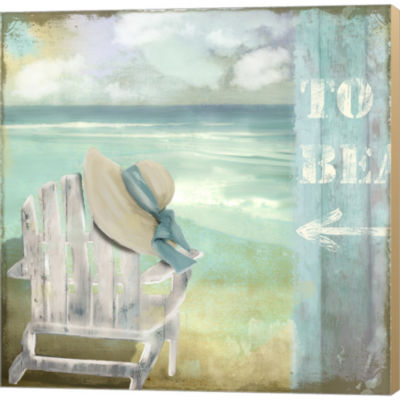 By The Sea I by Color Bakery Gallery Wrapped Canvas Wall Art On Deep Stretch Bars