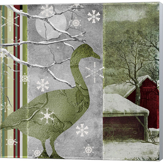Metaverse Art Country Christmas Duck Gallery Wrapped Canvas Wall Art