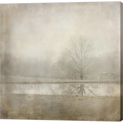 Country Pond Gallery Wrapped Canvas Wall Art On Deep Stretch Bars
