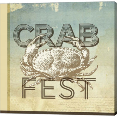 Metaverse Art Crab Fest Gallery Wrapped Canvas Wall Art