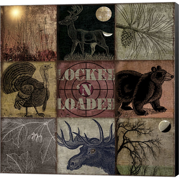 Cabela Clock Gallery Wrapped Canvas Wall Art On Deep Stretch Bars