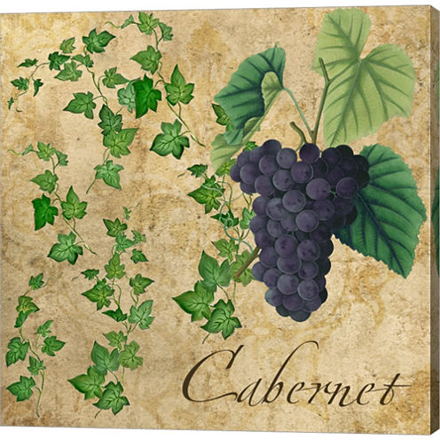Cabernet Gallery Wrapped Canvas Wall Art On Deep Stretch Bars