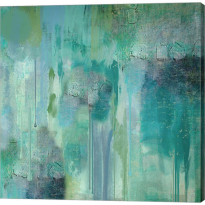 Metaverse Art Aqua Circumstance II Gallery Wrapped Canvas Wall Art On Deep Stretch Bars