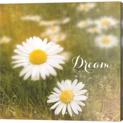 Metaverse Art Daisy Dreams Gallery Wrapped CanvasWall Art