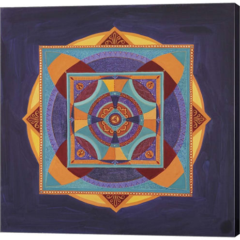 Centered Mandala Gallery Wrapped Canvas Wall Art On Deep Stretch Bars