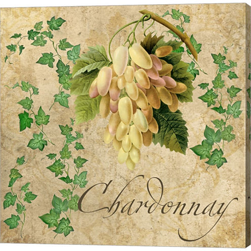 Chardonnay Gallery Wrapped Canvas Wall Art On DeepStretch Bars