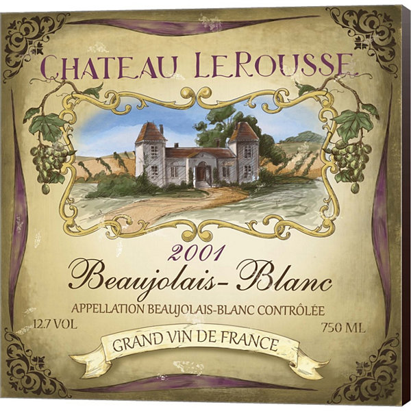 Metaverse Art Chateau Le Rousse Gallery Wrapped Canvas Wall Art