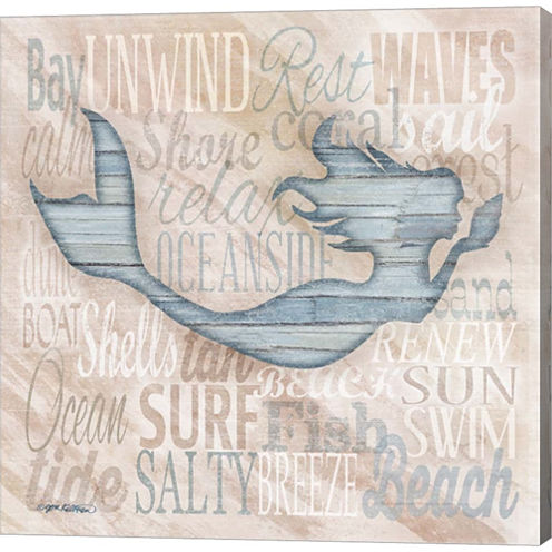 Driftwood Beach Icons I Gallery Wrapped Canvas Wall Art On Deep Stretch Bars