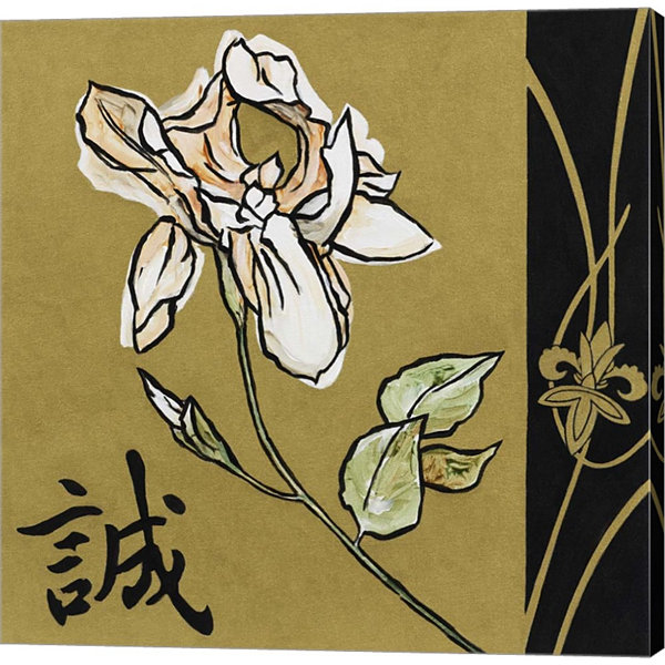 Asian Iris Gallery Wrapped Canvas Wall Art On DeepStretch Bars