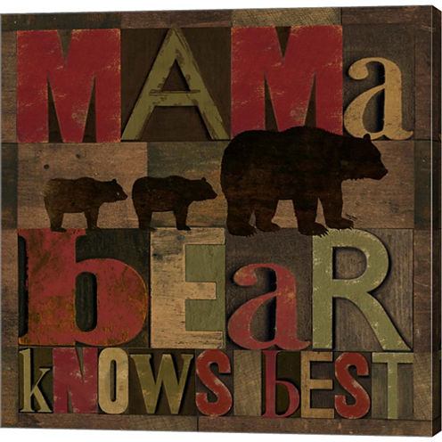 At The Lodge Printer Blocks I Gallery Wrapped Canvas Wall Art On Deep Stretch Bars