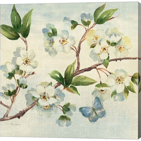 Cherry Bloom II Gallery Wrapped Canvas Wall Art OnDeep Stretch Bars
