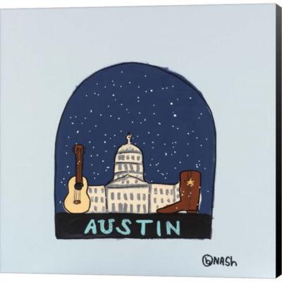 Austin Snow Globe Gallery Wrapped Canvas Wall ArtOn Deep Stretch Bars