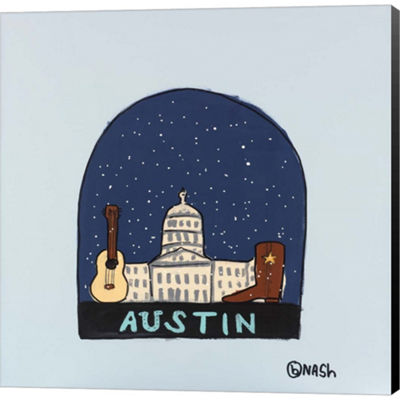 Metaverse Art Austin Snow Globe Gallery Wrapped Canvas Wall Art