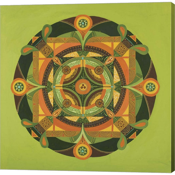 Autumn Mandala Gallery Wrapped Canvas Wall Art OnDeep Stretch Bars