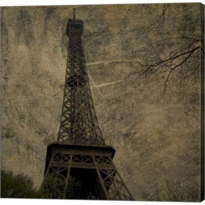 Eiffel III Gallery Wrapped Canvas Wall Art On DeepStretch Bars