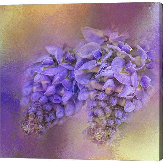 Metaverse Art Enticing Wisteria Gallery Wrapped Canvas Wall Art