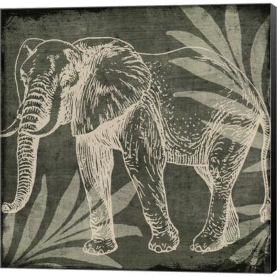 Metaverse Art Elephant 1 Gallery Wrapped Canvas Wall Art