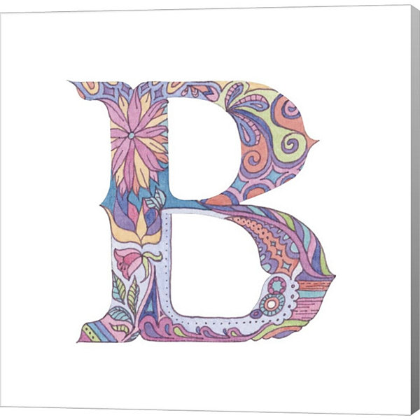 Metaverse Art The Letter B Gallery Wrapped CanvasWall Art
