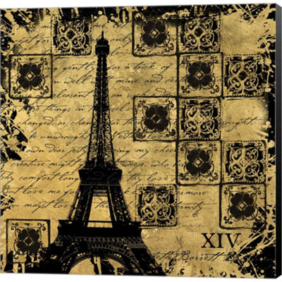 Metaverse Art B&G Tour Eiffel Gallery Wrapped Canvas Wall Art