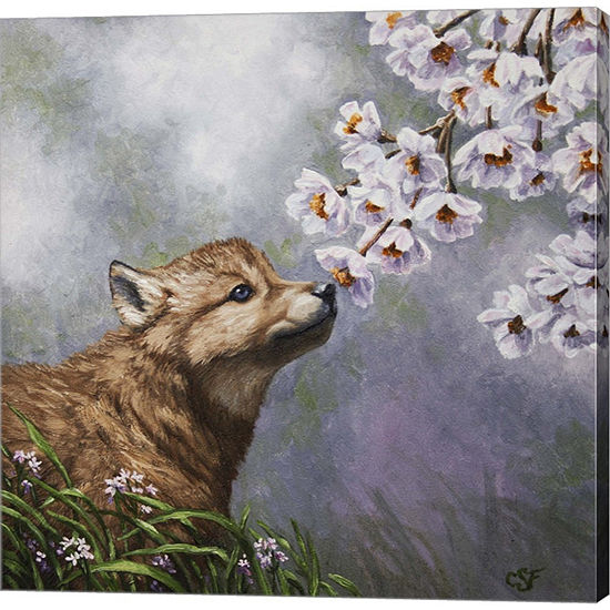 Metaverse Art Baby Blossoms Gallery Wrapped CanvasWall Art