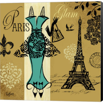 Euro Chic I Gallery Wrapped Canvas Wall Art On Deep Stretch Bars