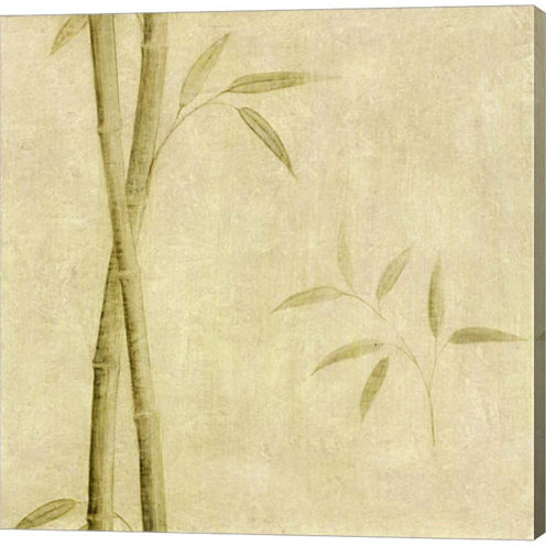 Bamboo Shoots Gallery Wrapped Canvas Wall Art On Deep Stretch Bars