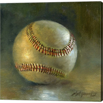 Metaverse Art Baseball 8 Gallery Wrapped Canvas Wall Art