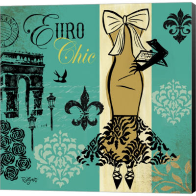 Metaverse Art Euro Chic II Gallery Wrapped CanvasWall Art