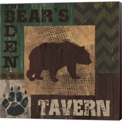 Metaverse Art Bear's Den Tavern Gallery Wrapped Canvas Wall Art