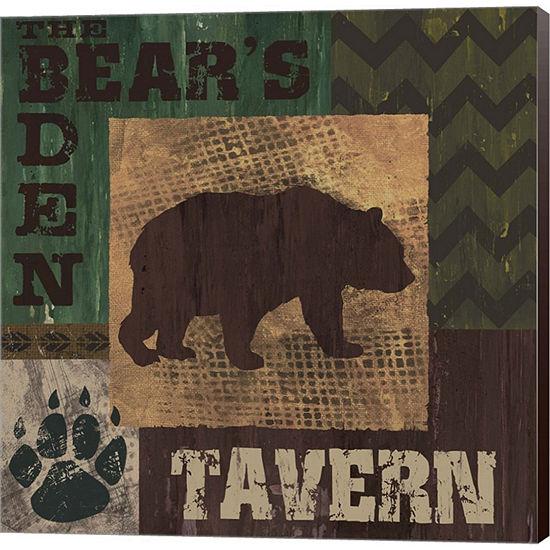 Metaverse Art Bears Den Tavern Gallery Wrapped Canvas Wall Art