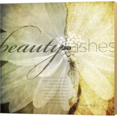 Metaverse Art Beauty For Ashes Gallery Wrapped Canvas Wall Art