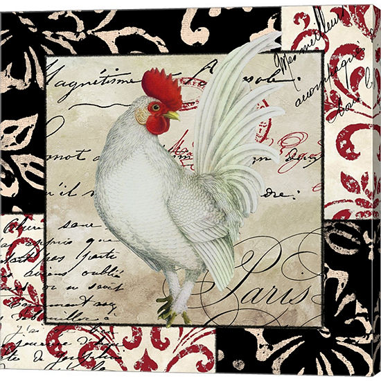 Metaverse Art Europa White Rooster Gallery Wrapped Canvas Wall Art On Deep Stretch Bars