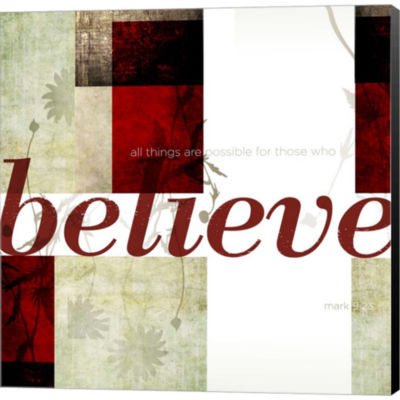 Metaverse Art Believe by Dallas Drotz Gallery Wrapped Canvas Wall Art
