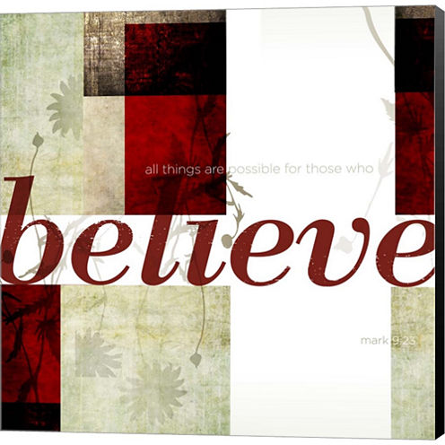 Believe by Dallas Drotz Gallery Wrapped Canvas Wall Art On Deep Stretch Bars