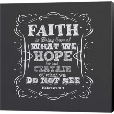Faith Is Being Sure Of Gallery Wrapped Canvas WallArt On Deep Stretch Bars
