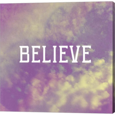 Believe by Vintage Skies Gallery Wrapped Canvas Wall Art On Deep Stretch Bars