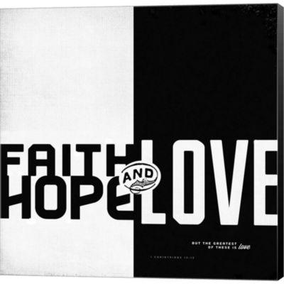 Metaverse Art Faith; Hope; Love II Gallery WrappedCanvas Wall Art