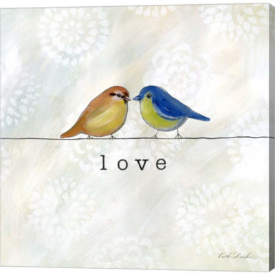 Birds Of A Feather Square II Gallery Wrapped Canvas Wall Art On Deep Stretch Bars