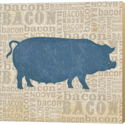 Metaverse Art Farm Animals III Gallery Wrapped Canvas Wall Art