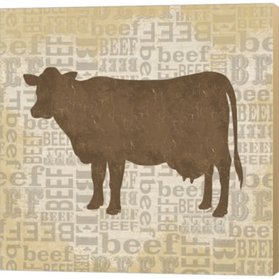Metaverse Art Farm Animals IV Gallery Wrapped Canvas Wall Art