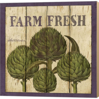 Farm Fresh Artichoke Gallery Wrapped Canvas Wall Art On Deep Stretch Bars