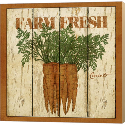 Metaverse Art Farm Fresh Carrots Gallery Wrapped Canvas Wall Art