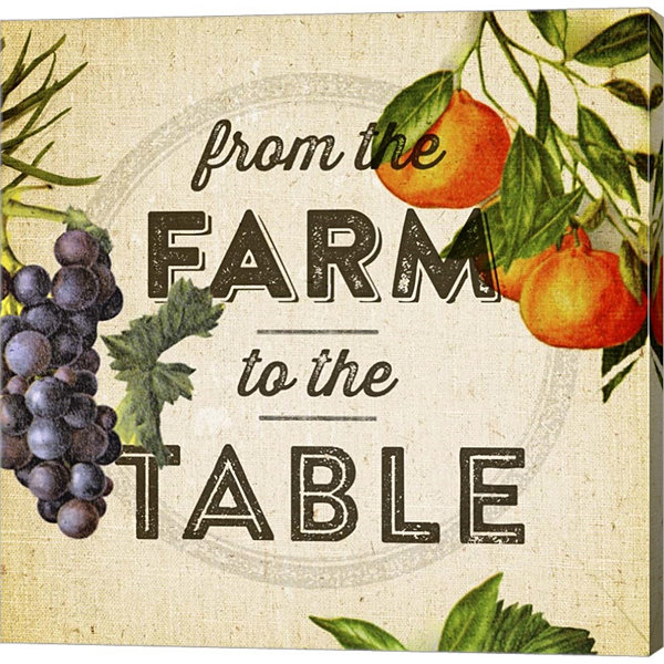 Farm To Table I Gallery Wrapped Canvas Wall Art OnDeep Stretch Bars