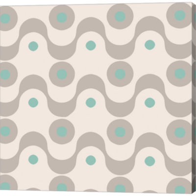 Fifties Patterns III Gallery Wrapped Canvas Wall Art On Deep Stretch Bars