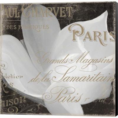 Fleurs Blanc II Gallery Wrapped Canvas Wall Art OnDeep Stretch Bars
