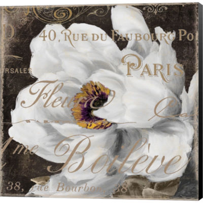 Metaverse Art Fleurs Blanc III Gallery Wrapped Canvas Wall Art