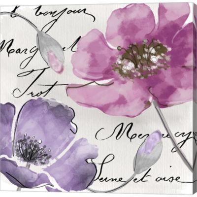 Metaverse Art Fleurs De France I Gallery Wrapped Canvas Wall Art