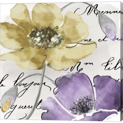 Metaverse Art Fleurs De France II Gallery WrappedCanvas Wall Art