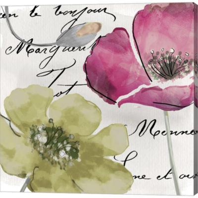 Metaverse Art Fleurs De France IV Gallery WrappedCanvas Wall Art